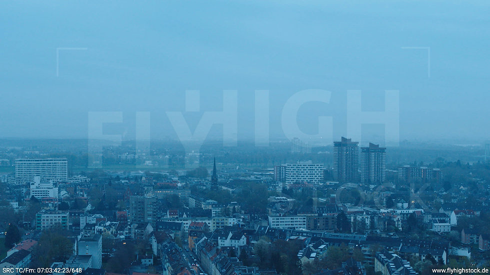 Köln Vorgebirgspark Allianz Wohnpark Skyline Hub morgens