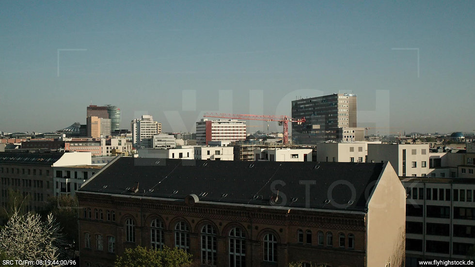 Berlin Hallesches Ufer Potsdamer Platz Skyline Hub tagsüber