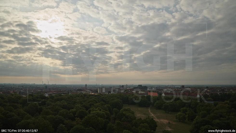 Berlin Hasenheide Neukölln Skyline Zuflug morgens 4