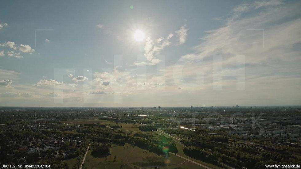 München Riemer Park Skyline Rückflug tagsüber 2