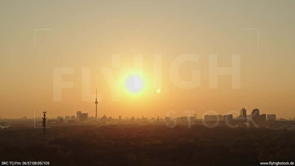 Berlin Tiergarten Skyline Zuflug morgens 10