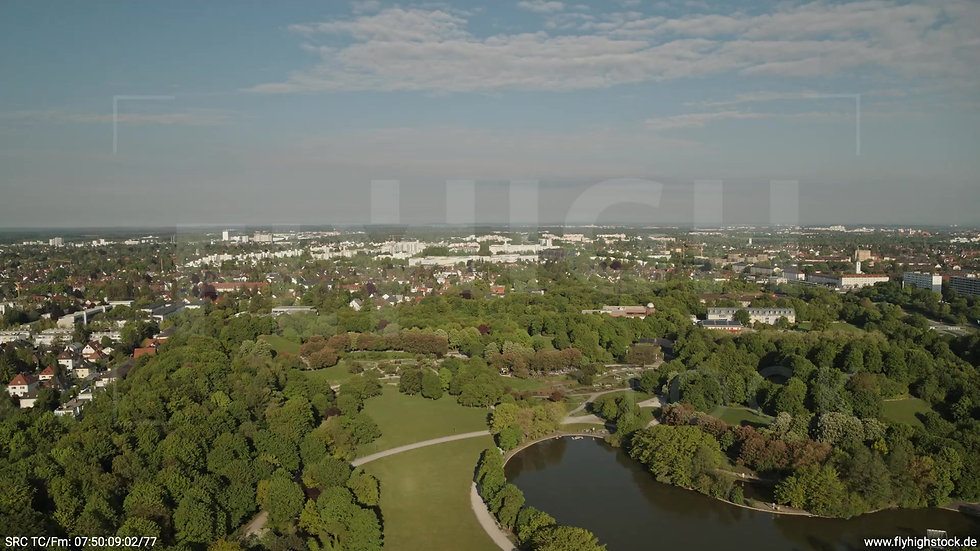 München Westpark Hadern Skyline Zuflug nach unten tagsüber