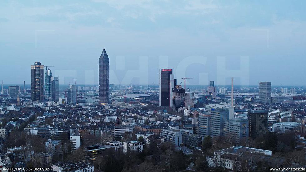 Frankfurt Grüneburgpark Rückflug Skyline morgens 4