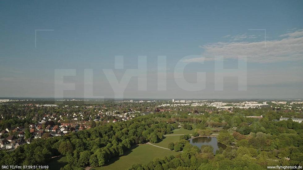 München Westpark Hadern Skyline Zuflug tagsüber