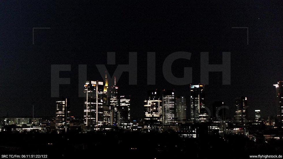 Frankfurt Grüneburgpark Rückflug Skyline nachts 2