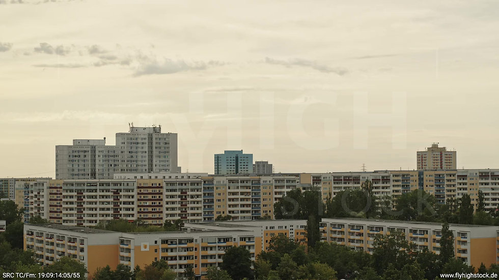 Berlin Marzahn Stadtteil-Shot Zuflug tagsüber