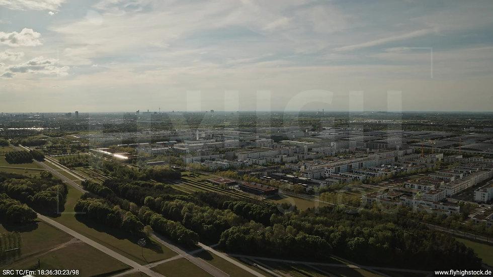München Riemer Park Skyline Rückflug tagsüber