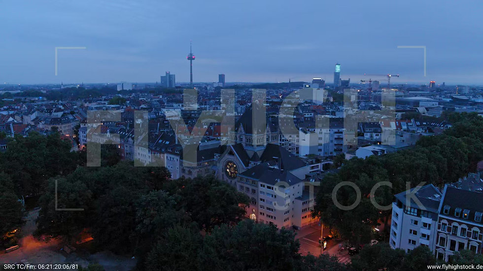 Köln Rathenauplatz Zuflug nach unten C038_C008