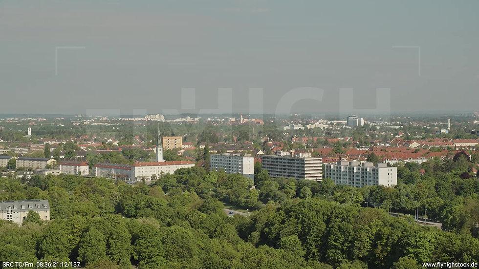 München Westpark West Stadtteil-Shot Zuflug tagsüber 2