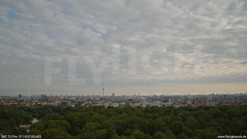 Berlin Hasenheide Skyline Hub morgens 8