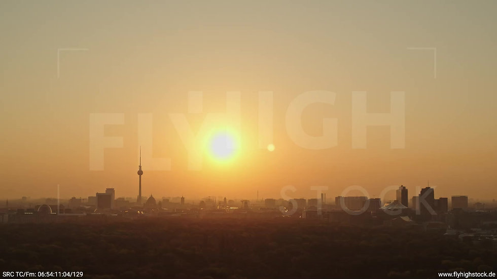 Berlin Tiergarten Skyline Rückflug morgens 10