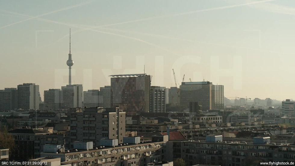 Berlin Hallesches Ufer Ost Skyline Hub morgens 2