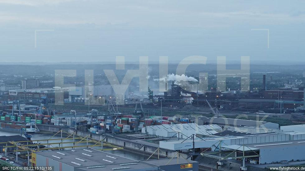 Duisburg Parallelhafen Zuflug nach unten G018_C020