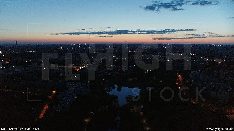 München Westpark Ost Skyline Hub morgens 2