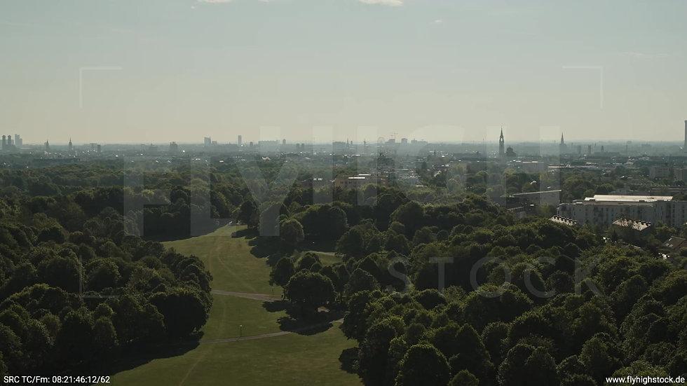 München Westpark West Skyline Zuflug tagsüber 5