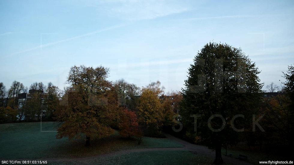 Düsseldorf Sternwartpark Skyline Hub morgens F005_C003