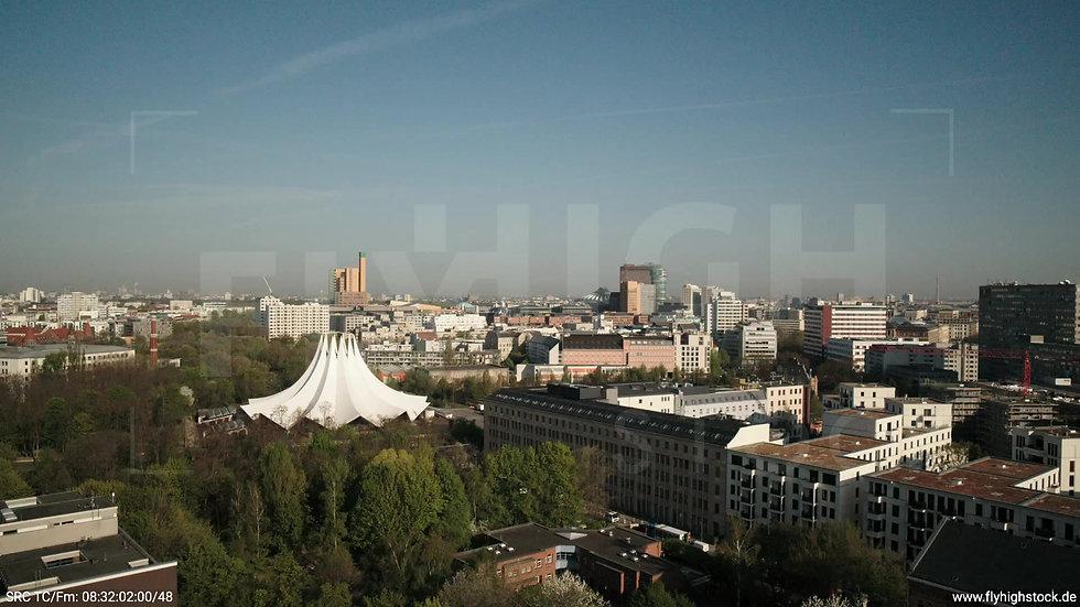 Berlin Hallesches Ufer Potsdamer Platz Skyline Zuflug tagsüber 2