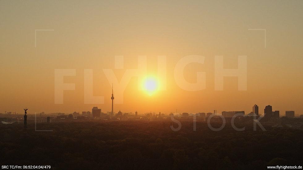 Berlin Tiergarten Skyline Hub morgens 10