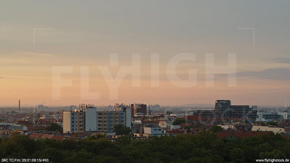 Berlin Hasenheide Neukölln Skyline Hub morgens