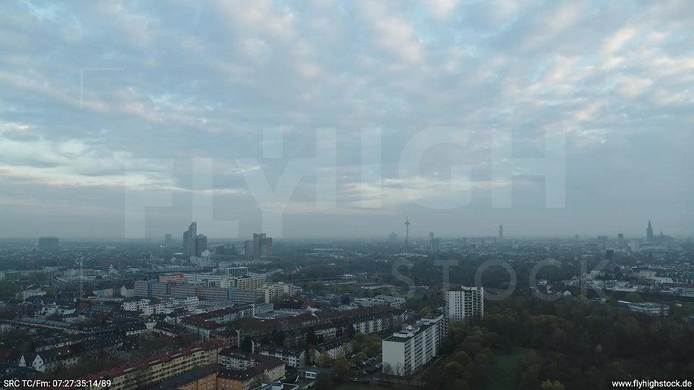 Köln Vorgebirgspark Skyline Rückflug morgens 4