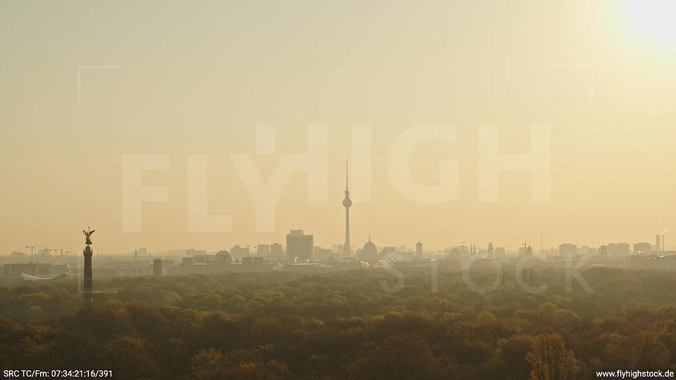 Berlin Tiergarten Skyline Hub morgens 12