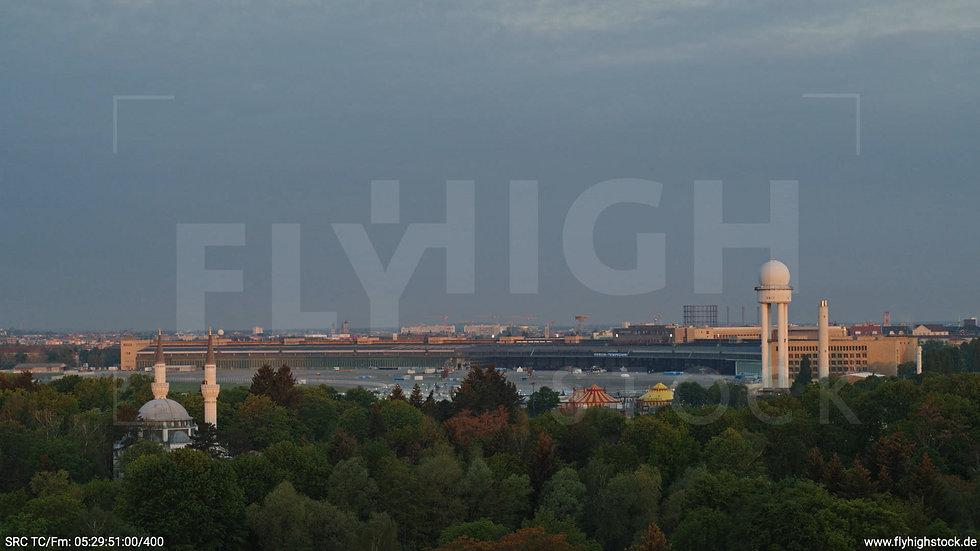 Berlin Hasenheide Tempelhof Skyline Hub morgens