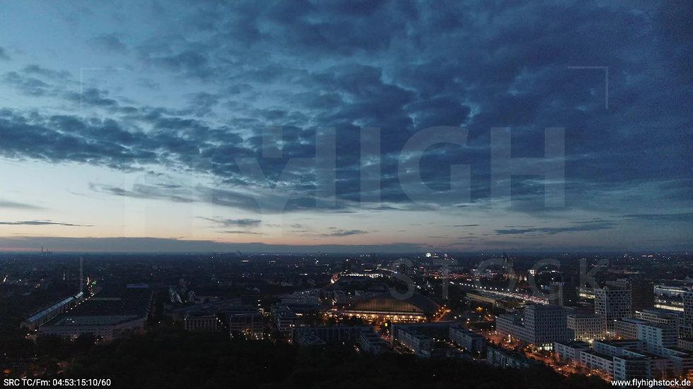 München Hirschgarten Riesenrad Skyline Zuflug morgens
