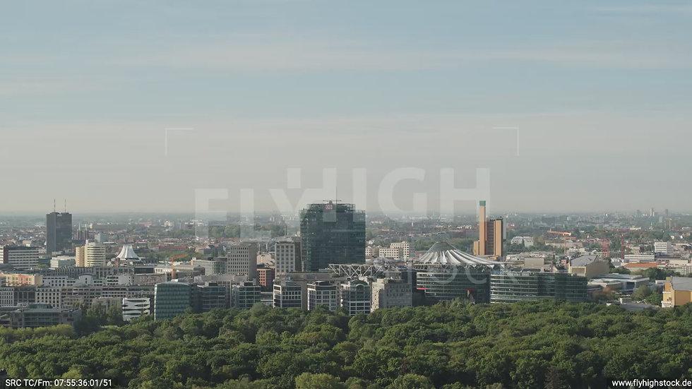 Berlin Spreebogenpark Potsdamer Pl. Skyline Zuflug n. u. tagsüber D031_C013