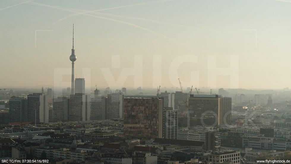 Berlin Hallesches Ufer Ost Skyline Hub morgens