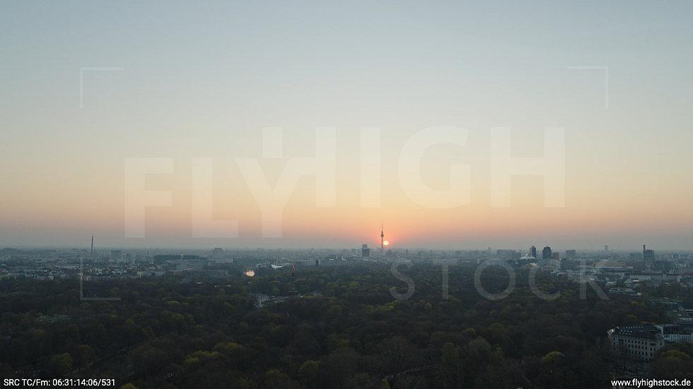 Berlin Tiergarten Skyline Hub morgens 7