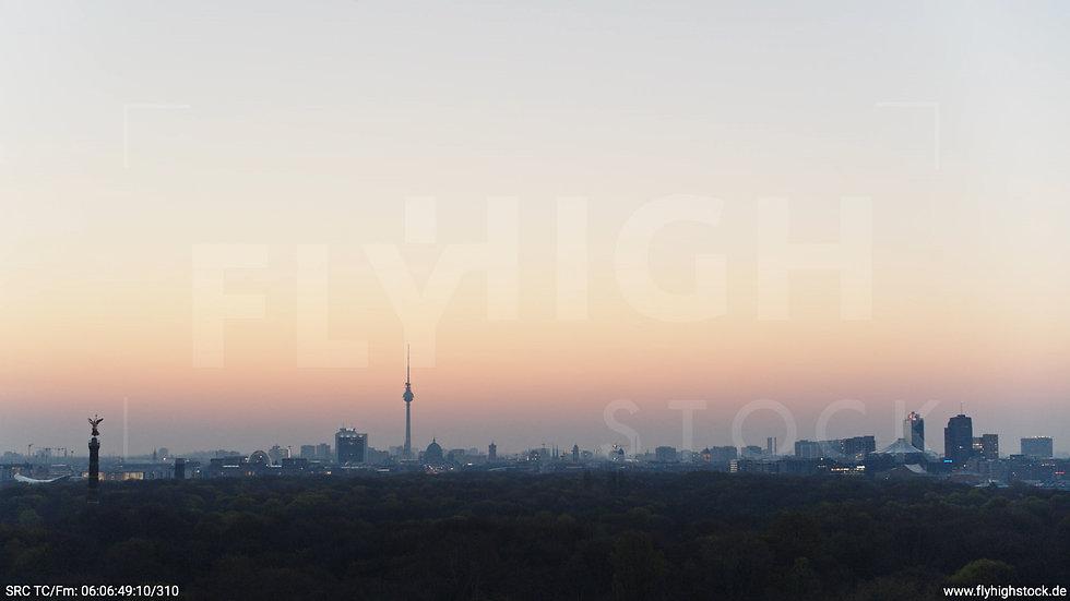 Berlin Tiergarten Skyline Hub morgens 4