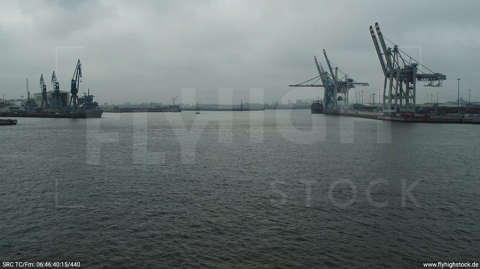 Hamburg Hafen Aufzieher Containerhafen
