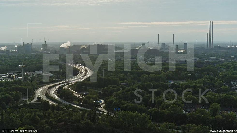Duisburg Landschaftspark Duisburg-Nord Rückflug nach unten G012_C011