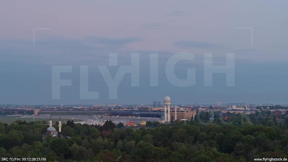 Berlin Hasenheide Tempelhof Skyline Zuflug morgens 4