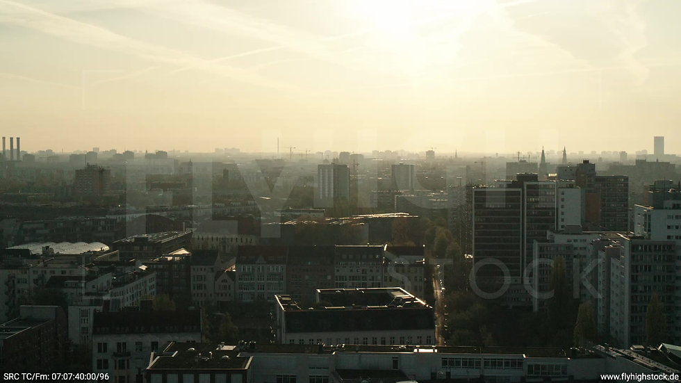 Berlin Hallesches Ufer Skyline Parallelflug morgens 2