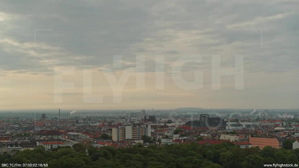 Berlin Hasenheide Neukölln Skyline Zuflug morgens 3