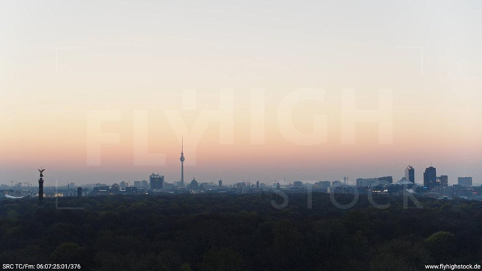 Berlin Tiergarten Skyline Hub morgens 5