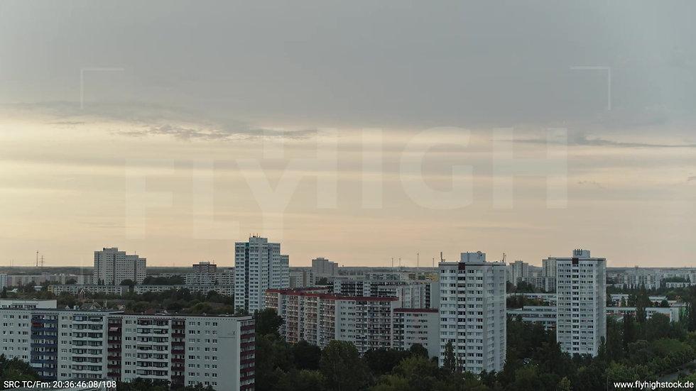 Berlin Marzahn Stadtteil-Shot Zuflug abends 2