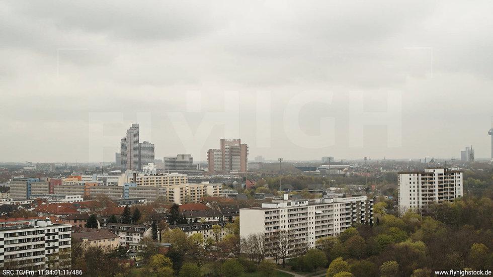 Köln Vorgebirgspark Justiz Skyline Hub tagsüber