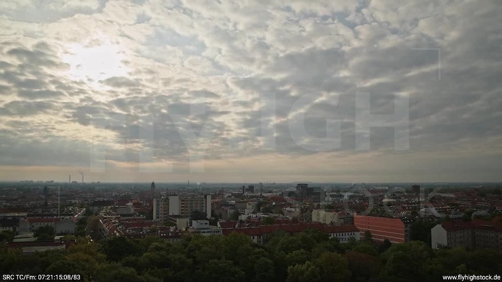 Berlin Hasenheide Neukölln Skyline Rückflug morgens 2
