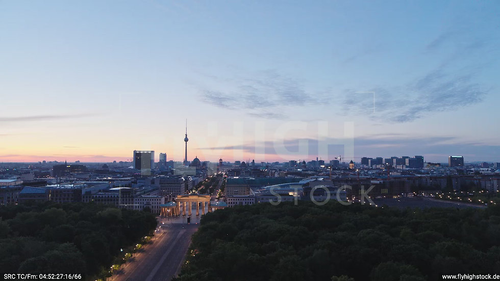 Berlin Tiergarten Brandenburger Tor Rückflug morgens D028_C004