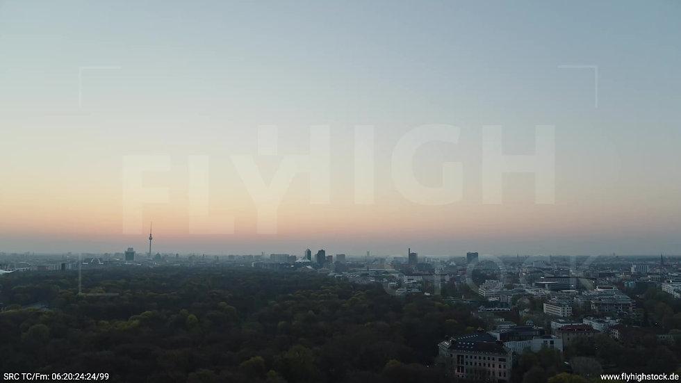 Berlin Tiergarten Skyline Rückflug morgens 2