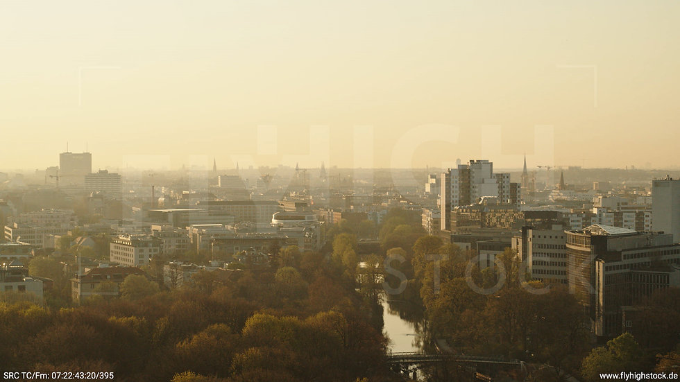 Berlin Tiergarten Stadtteil-Shot Tiergarten Hub morgens