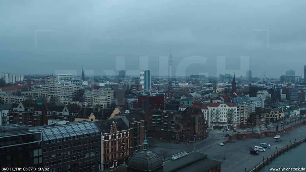 Hamburg Hafen Rückflug Skyline