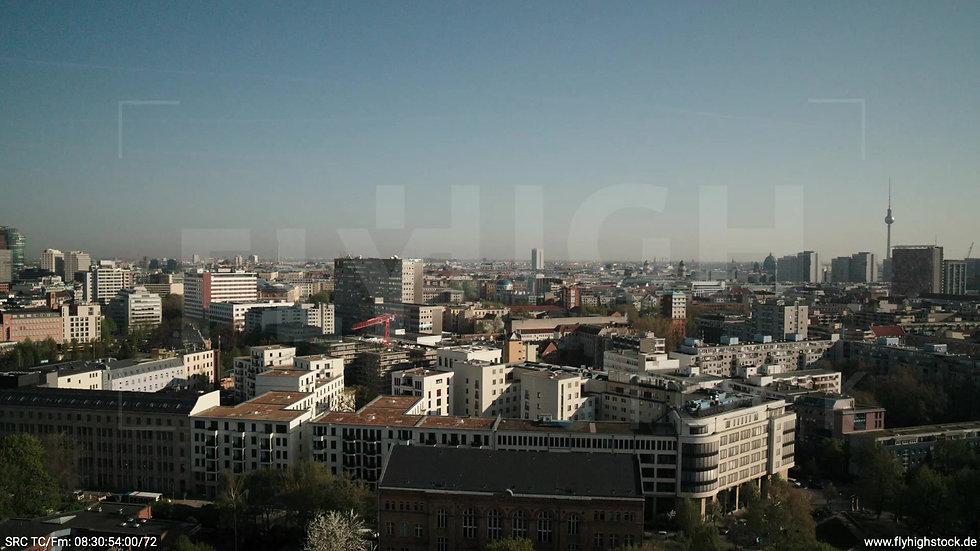 Berlin Hallesches Ufer Ost Skyline Zuflug tagsüber 4