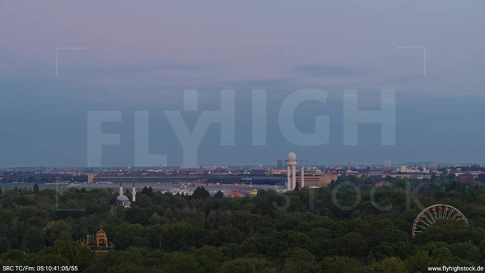Berlin Hasenheide Tempelhof Skyline Zuflug morgens 3
