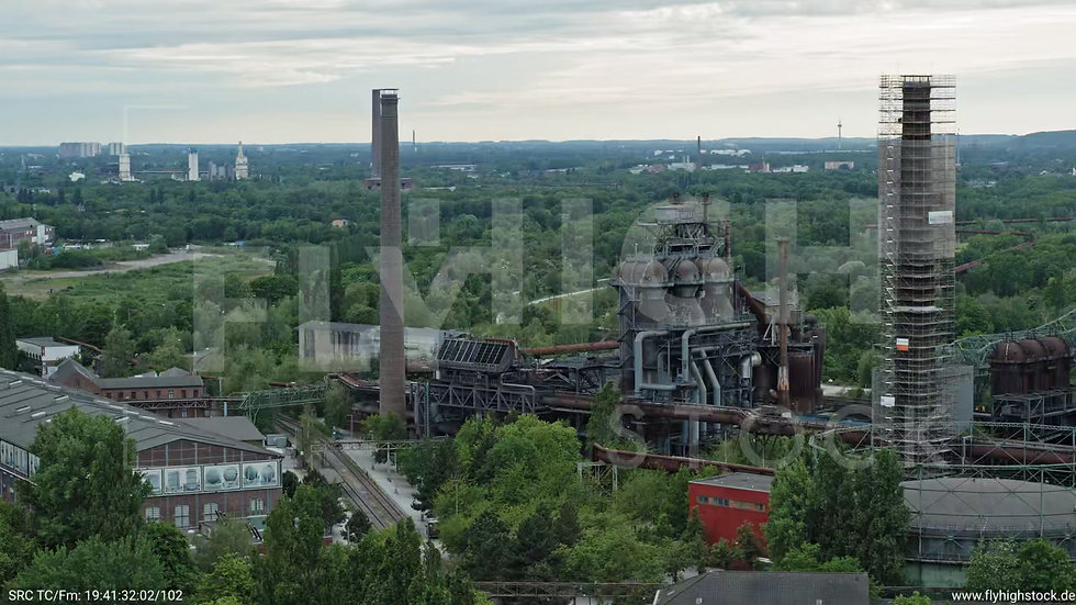 Duisburg Landschaftspark Duisburg-Nord Zuflug nach unten G011_C017