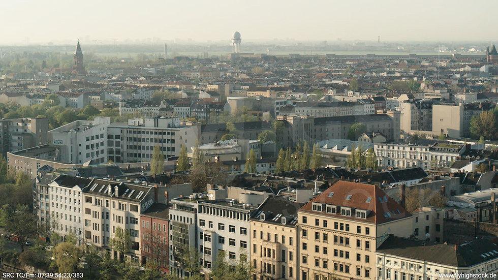 Berlin Hallesches Ufer Tempelhof Skyline Hub morgens