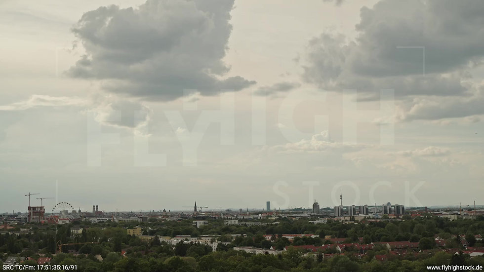 München Ostpark Skyline Rückflug tagsüber