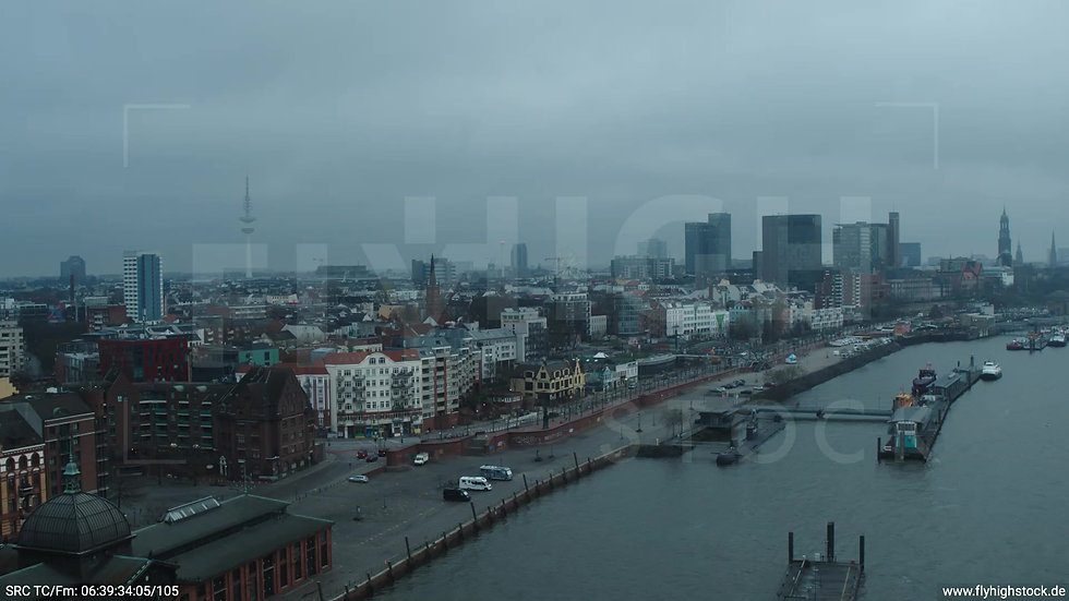 Hamburg Hafen kurzer Zuflug Skyline